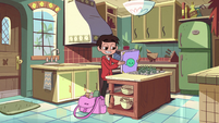 S2E11 Marco making lunch for the tadpoles