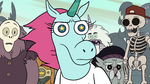 S2E13 Pony Head looking sternly at Marco