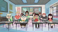 S2E32 Marco and classmates stare blankly at Star