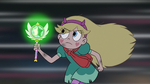 S3E1 Star looks at her wand while running