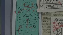 S4E16 Marco Diaz's cornball field diagram 2