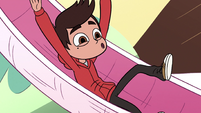 S2E11 Super-tiny Marco sliding down a slide