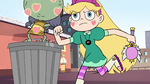 S2E14 Star Butterfly running past Ludo