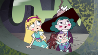 S4E34 Star, Eclipsa, and Meteora look at the sky