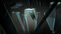 S2E20 Buff Frog jumps through the ceiling opening