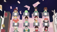 S2E32 Overhead view of Star's classmates
