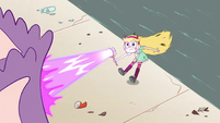 S2E7 Star Butterfly poofing the castle away