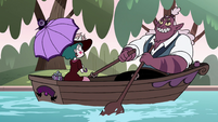 S4E23 Globgor and Eclipsa on a romantic boat ride