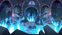 S3E24 Meteora's nursery covered in flames