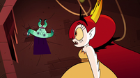 S4E24 Hekapoo looking back at Rhombulus
