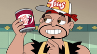 S4E26 Sensei holding can of hot peppers