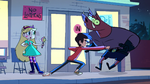 S1e1 marco punches monster in the stomach
