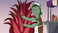 S3E19 Food vendor demon hugging a plant