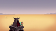 S3E19 Lifeguard tower view of the lava ocean