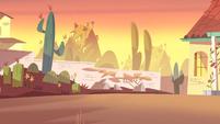 Match Maker background - Diaz house backyard sunset 2