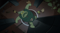 S2E20 Buff Frog escaping from the corn mine