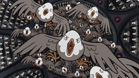 S3E20 Pigeons swarming down on Star and friends