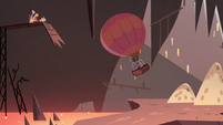 S4E2 Foolduke's balloon travels up to the cliff