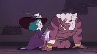 S4E32 Eclipsa 'you're in no condition to fight'