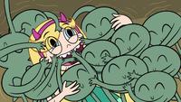 S3E5 Buff Frog's tadpoles hug Star with their arms