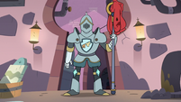 S3E8 Sir Lavabo in a suit of armor