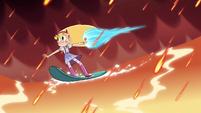 S4E6 Star rocket-surfs across the lava lake