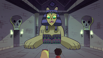 "S1E8 Riddle Sphinx ""how could you possibly that?"""