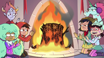S3E25 Marco and friends warming up by the fireplace