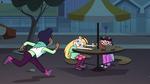 S4E26 Chloe sprinting toward Star's table