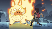 S4E5 Fire demon blocks Marco's path again