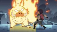 S4E5 Fire demon blocks Marco's path again