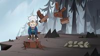 S1E6 Gustav chopping firewood