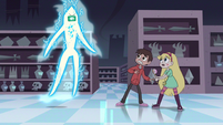 S2E18 Gift card looming over Star and Marco
