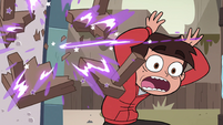 S4E7 Table gets blasted apart next to Marco