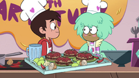 S4E9 Marco Diaz and Kelly smile at each other