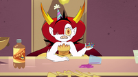 S4E35 Hekapoo holding a handful of jelly beans