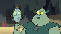 S2E20 Buff Frog looking at his mirror reflection