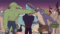 S3E2 Monster 1 about to chomp off Rasticore's arm