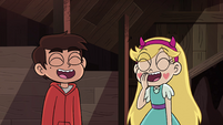 S4E34 Star and Marco laughing together