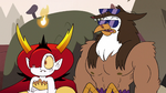 S3E38 Hekapoo and Talon listening to Tom