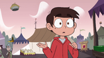 S4E1 Crown knocks pie out of Marco's hand
