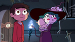 S4E1 Marco and Eclipsa look over at Star