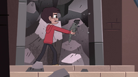 S4E32 Marco Diaz picking at the rocks