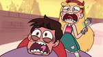S1E3 Star Butterfly and Marco screaming