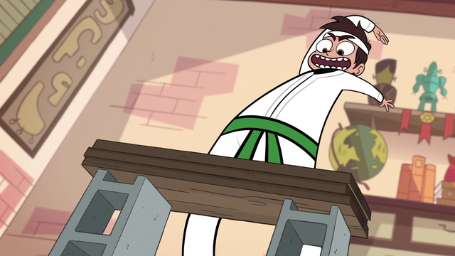 File:S1E5 Marco about to do another karate chop.png