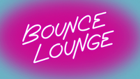 S2E33 Neon Bounce Lounge logo powering on