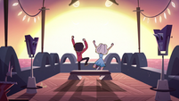 S3E13 Marco and Jackie jumping up and down