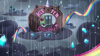 S3E35 Van drives through Kitten Donuts sign