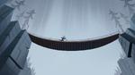 S1E6 Gustav runs across a rope bridge