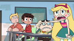 S2E16 Star Butterfly pointing at Marco Diaz